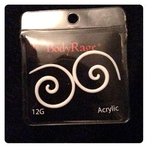 12G acrylic spiral earrings (NEW!)